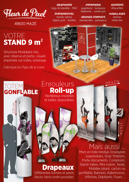 Fleur De Pixel Stands Salons Display Enrouleurs